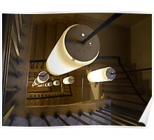 Lights down the stairwell Poster