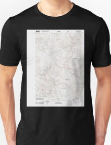 USGS Topo Map Oregon Granite 20110801 TM T-Shirt