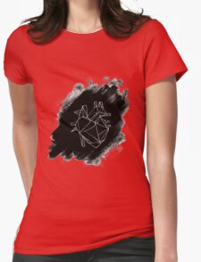 Anatomical Geometric Heart Womens Fitted T-Shirt