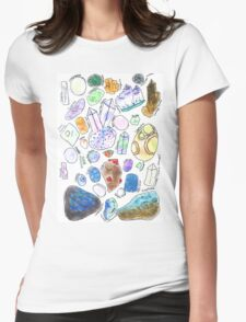Crystals Womens Fitted T-Shirt