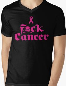 F*ck Cancer Mens V-Neck T-Shirt