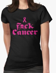 F*ck Cancer Womens Fitted T-Shirt