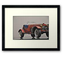 Vintage Red Sports car Framed Print