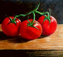 Still Life - 3 Tomatoes by Andy Liberto