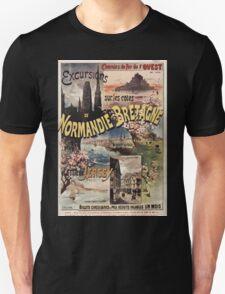 Gustave Fraipont Affiche Ouest Normandie Bretagne Jersey T-Shirt