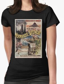 Gustave Fraipont Affiche Ouest Normandie Bretagne Jersey Womens Fitted T-Shirt