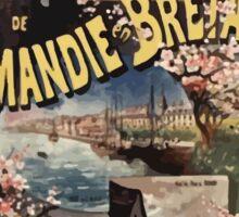 Gustave Fraipont Affiche Ouest Normandie Bretagne Jersey Sticker