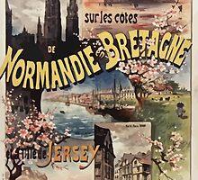 Gustave Fraipont Affiche Ouest Normandie Bretagne Jersey by wetdryvac