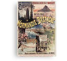 Gustave Fraipont Affiche Ouest Normandie Bretagne Jersey Metal Print
