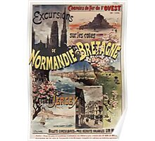 Gustave Fraipont Affiche Ouest Normandie Bretagne Jersey Poster