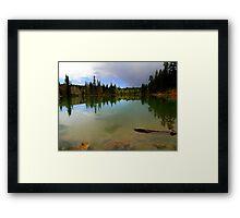 Crystal Mirror Lake Framed Print