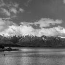 Lake Nahuel Huapi, Patagonia, Argentina (Black & white) by Mathieu Longvert