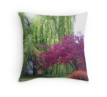 Looking Back on Autumn Throw Pillow