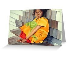 In The Lap Of Bricks Greeting Card