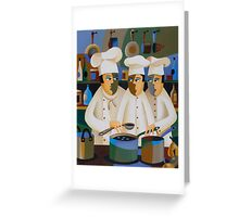 THE APPRENTICE CHEFS Greeting Card