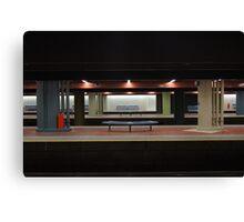 Deserted Train Station Canvas Print