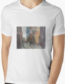 Hardware Lane, Melbourne, Victoria, Australia Mens V-Neck T-Shirt