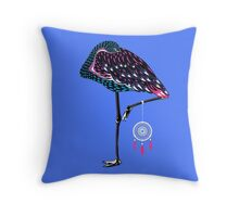 Flamingo Dreamcatcher Throw Pillow