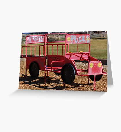 a childs fire engine Greeting Card