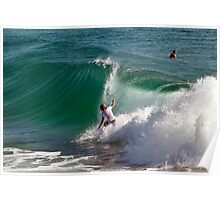 Pre-Quiksilver surfing Poster