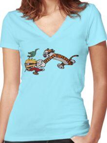 Calvinball 2 Women's Fitted V-Neck T-Shirt