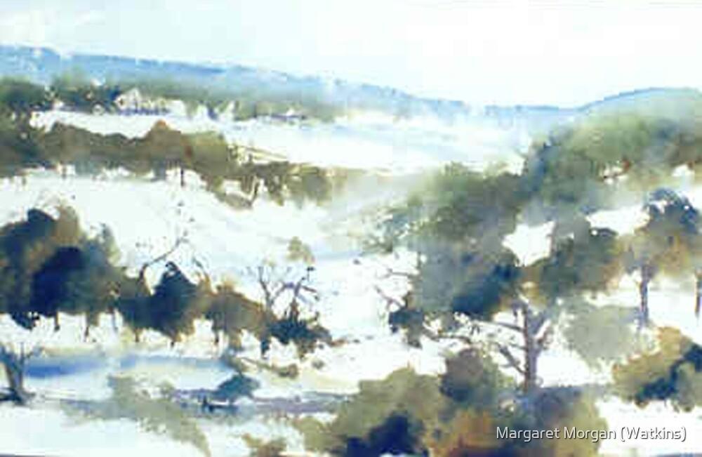 Perisher (watercolour) NSW Australia by Margaret Morgan (Watkins)