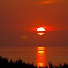 Sunset at Mirlo Beach, Cape Hatteras, North Carolina by Larry Llewellyn