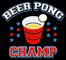 Beer Pong Champ Photographic Print