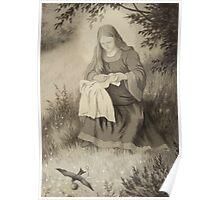 Theodor Kittelsen Jomfru maria og svalen Virgin Mary and swallow Poster
