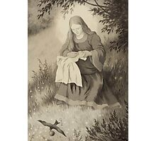 Theodor Kittelsen Jomfru maria og svalen Virgin Mary and swallow Photographic Print