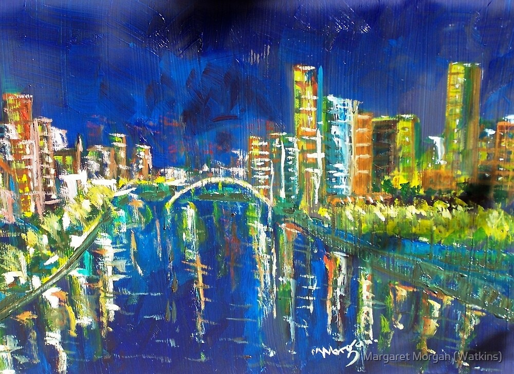 Southbank at night 'feel like taking a stroll' - Vic Australia by Margaret Morgan (Watkins)