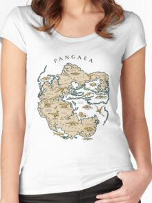 map of the supercontinent Pangaea Women's Fitted Scoop T-Shirt