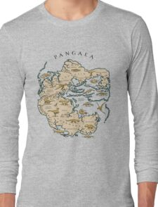 map of the supercontinent Pangaea Long Sleeve T-Shirt