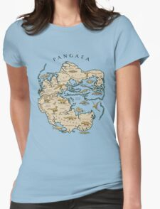 map of the supercontinent Pangaea Womens Fitted T-Shirt