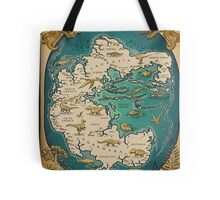 map of the supercontinent Pangaea Tote Bag