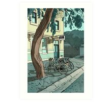 bicycles at the Hotel Art Print
