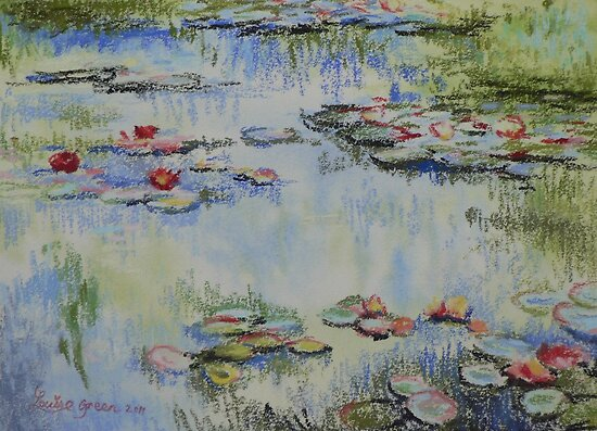 Waterlillies - after Monet by louisegreen