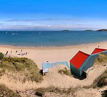 Abersoch beach hut Panoramic by Turtle  Photography
