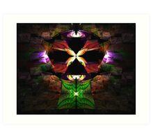 Elliptic Splits Tutorial - Butterfly Shrine Art Print