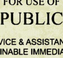 police box sign Sticker