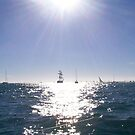 Yachts in the Sun by DEB CAMERON