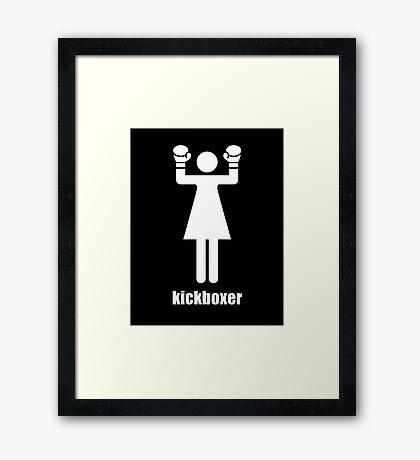 I kick ass Framed Print