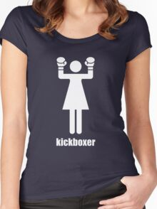 I kick ass Women's Fitted Scoop T-Shirt