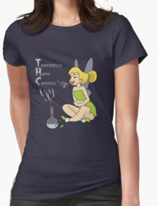 Tinkerbells Happy Crystals  Womens Fitted T-Shirt