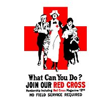 What Can You Do? Red Cross WW1 Photographic Print