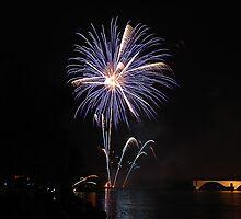 Fireworks on Avignon by Joeblack