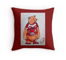 Footy Bear Throw Pillow