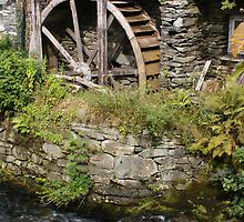 Water wheel Ambleside  by Kristina K