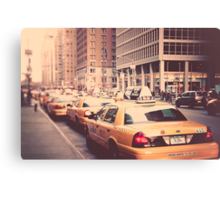 A Row of New York Cabs. Canvas Print
