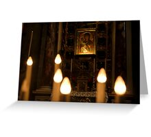 Candels and Virgin Greeting Card